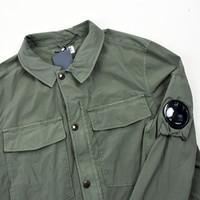 C.P. Company green nycra lens detail overshirt jacket size 54