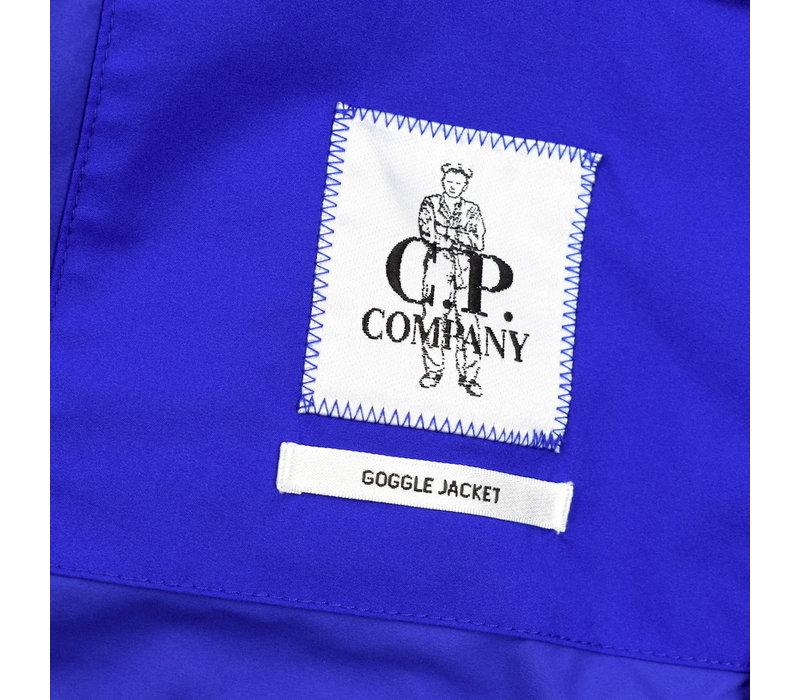 C.P. Company blue pro-tek utility mille miglia goggle hood anorak