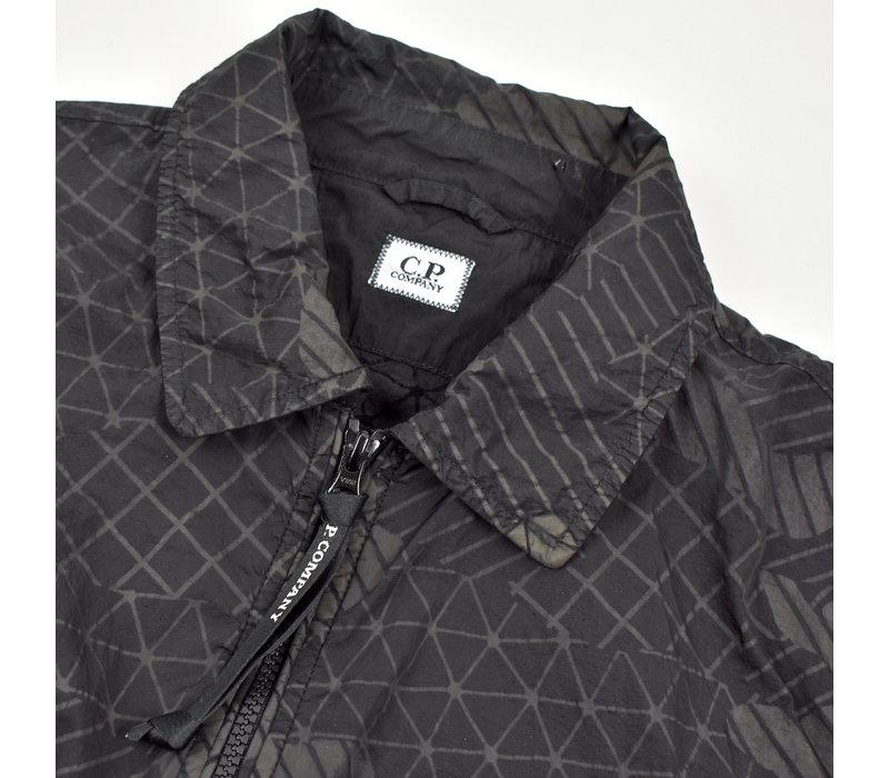 C.P. Company black green camo net lens detail overshirt jacket XL