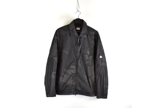 C.P. Company C.P. Company black green camo net lens detail overshirt jacket XL