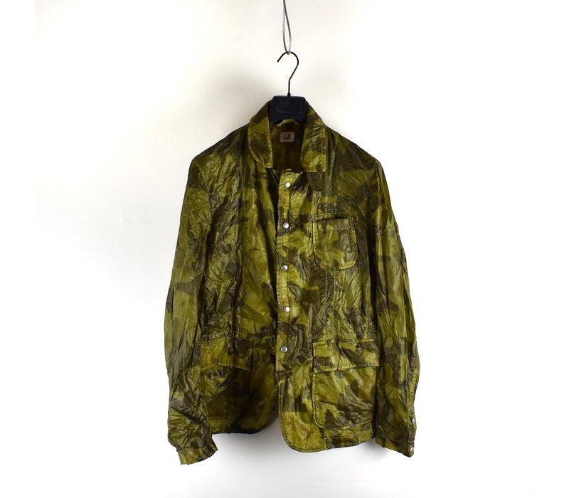 C.P. Company lightweight green camo blazer jacket size 50