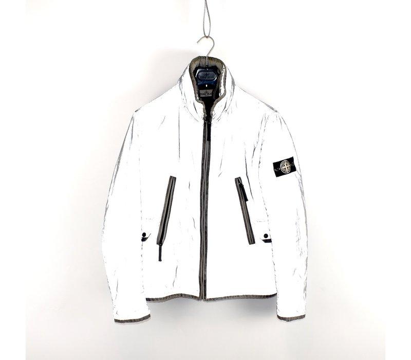 Stone Island silver grey liquid reflective jacket L