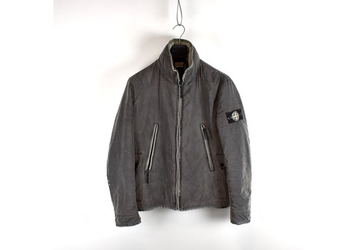 Stone Island Stone Island silver grey liquid reflective jacket L