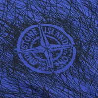 Stone Island blue sketch compass logo t-shirt XL