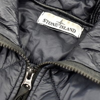 Stone Island navy gd quilted micro yarn jacket M