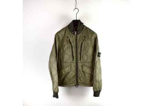 Stone Island Stone Island grey quilted padded nylon jacket L