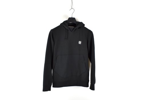 Stone Island Stone Island black hooded patch program sweatshirt S