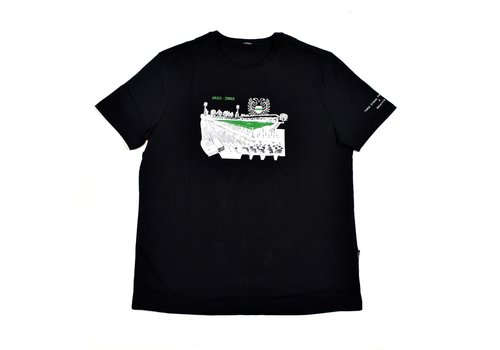 Three Stroke Productions Three Stroke Productions Old Town Stadium Project stadion Oosterpark Groningen t-shirt Black