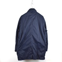 Stone Island navy nylon batavia-tc trench coat XXXL