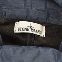 Stone Island packable navy house check nylon metal anorak XL