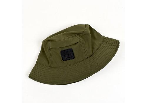 Stone Island C.P. Company green Metropolis Urban Protection range soft shell bucket hat L