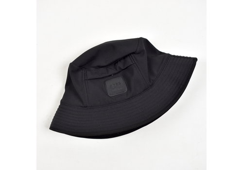 Stone Island C.P. Company black Metropolis Urban Protection range soft shell bucket hat L