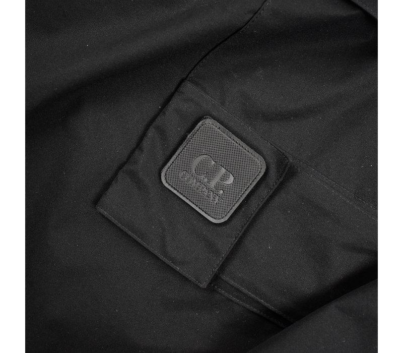 C.P. Company black pro-tek urban protection metropolis face mask anorak XXL
