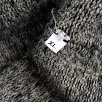 Stone Island dark grey felted lana crew neck knit XL