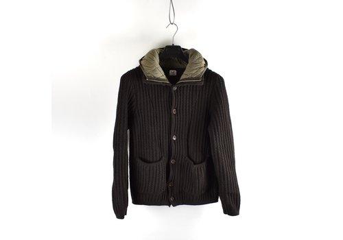 C.P. Company C.P. Company black knit wool hooded jacket S