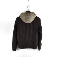 C.P. Company black knit wool hooded jacket S