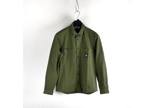 Stone Island Stone Island green seersucker co tc long sleeve shirt M
