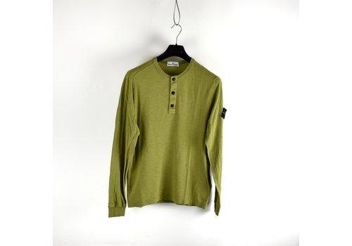 Stone Island Stone Island green crew neck buttoned longsleeve sweatshirt L