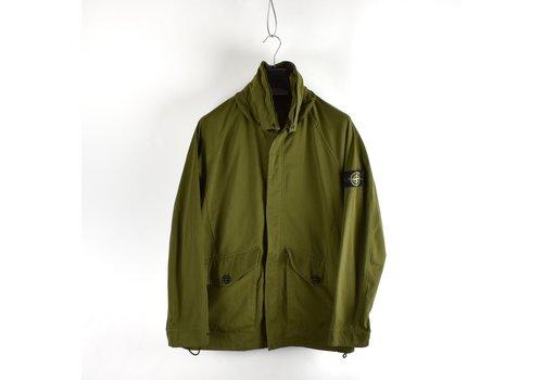 Stone Island Stone Island green polyester micro reps long jacket L