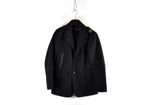 Stone Island Stone Island black shoulder badge wool blazer jacket M