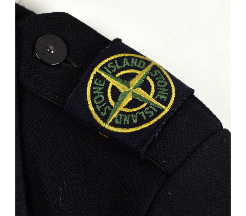 Stone Island black shoulder badge wool blazer jacket M