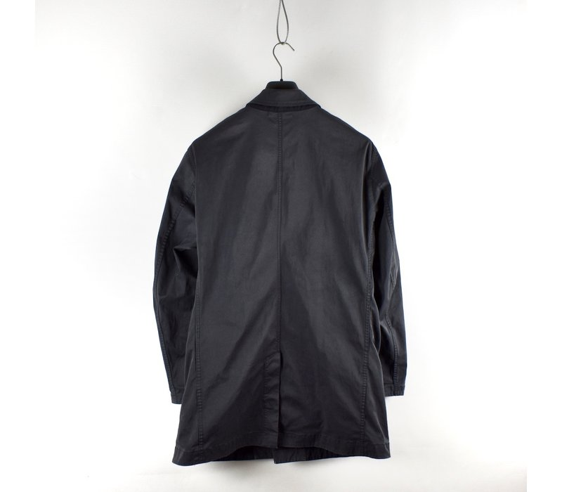 Stone Island blue grey david jersey-tc trench coat XL