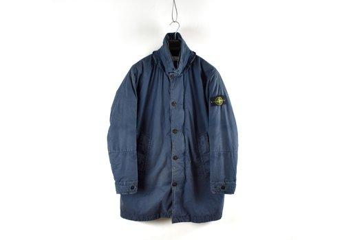 Stone Island Stone Island blue 50 fili resinata down-tc trench coat XL