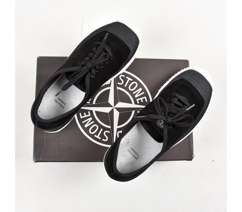 Stone Island x Diemme black canvas low trainers 41