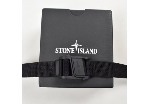 Stone Island Stone Island black canvas belt with magnetic buckle 90cm