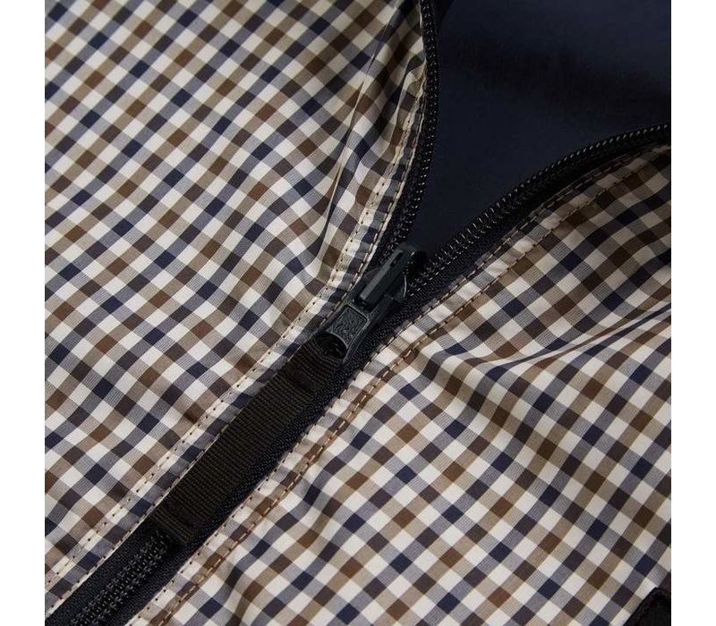 Weekend Offender Capricious reversible jacket Check/Navy