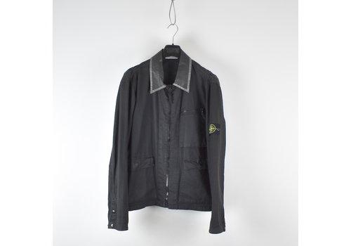 Stone Island Stone Island black photographic resin collar jacket XL
