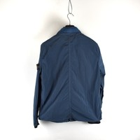 Stone Island blue nylon rip stop  jacket L