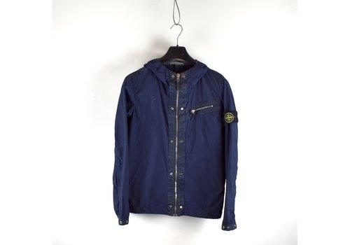 Stone Island Stone Island navy spalmatura coated nylon hooded jacket M