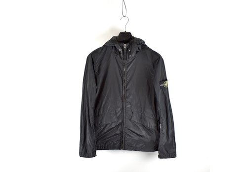 Stone Island Stone Island black nylon metal hooded jacket M