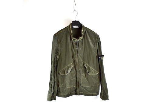 Stone Island Stone Island green nylon metal biker jacket XL