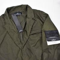Stone Island green hollowcore metal blazer jacket M
