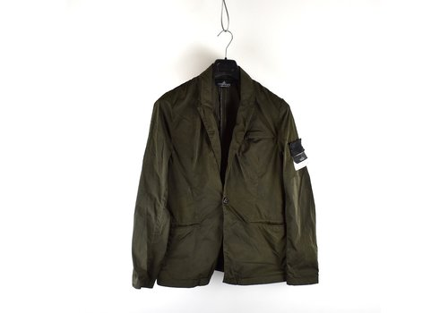 Stone Island Stone Island green hollowcore metal blazer jacket M