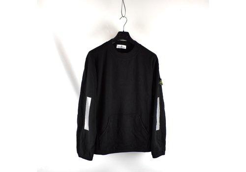 Stone Island Stone Island black pouch pocket reflective trim crew neck sweatshirt L