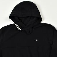 Stone Island black hooded star embroidery sweatshirt S