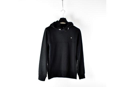 Stone Island Stone Island black hooded star embroidery sweatshirt S