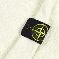 Stone Island white crew neck irregular cotton knit M