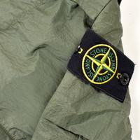 Stone Island green nylon seersucker re cargo trousers 32