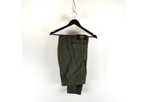 Stone Island Stone Island green nylon seersucker re cargo trousers 32