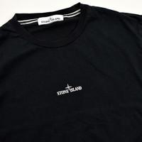 Stone Island black graphic back print t-shirt S
