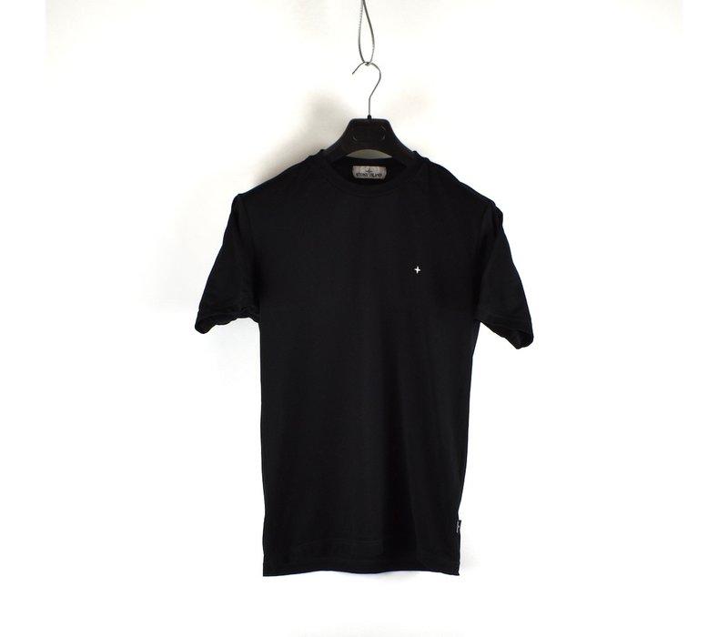 Stone Island black pique short sleeve t-shirt S