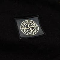 Stone Island black pique short sleeve patch program t-shirt S