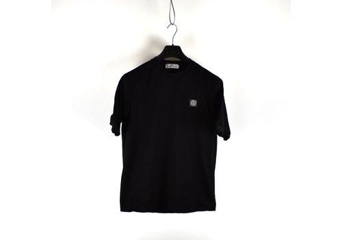 Stone Island Stone Island black pique short sleeve patch program t-shirt S