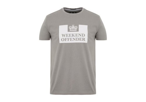 Weekend Offender Weekend Offender Prison logo t-shirt Bullet Grey