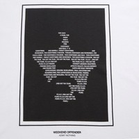 Weekend Offender F.E.A.R. t-shirt White