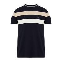 Weekend Offender Honopu striped t-shirt Navy